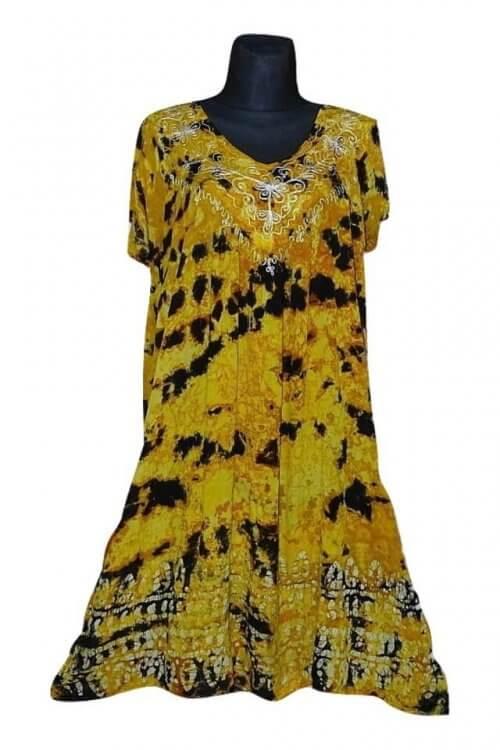 Nagy méretű egyenes aljú rövid ruha