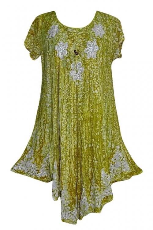 csinos rövid ruha indiából batikolt és hímzett