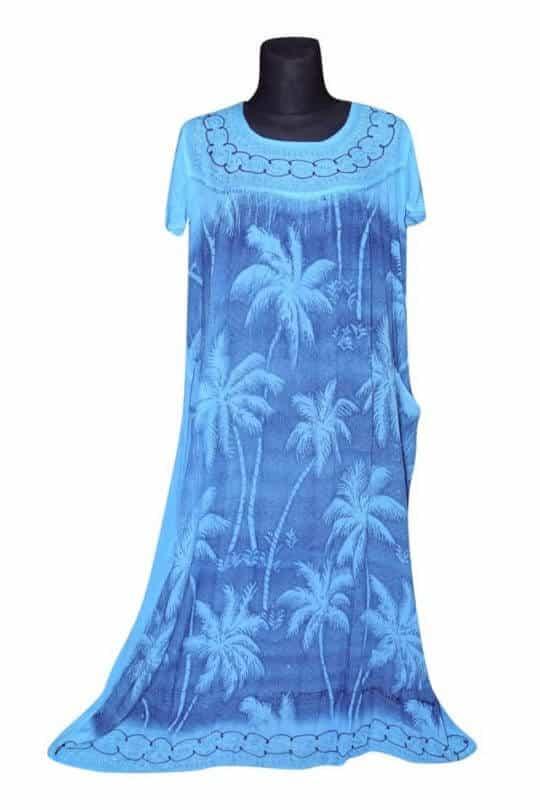 Extra nagy méretű hosszú ruhák Indiából 2702 vílagós kék