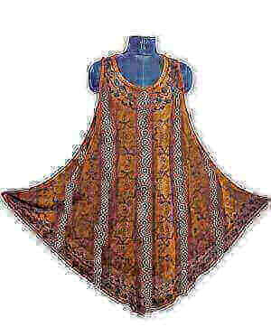 Csinos, rövid nyári ruha Indiából 2106 barna