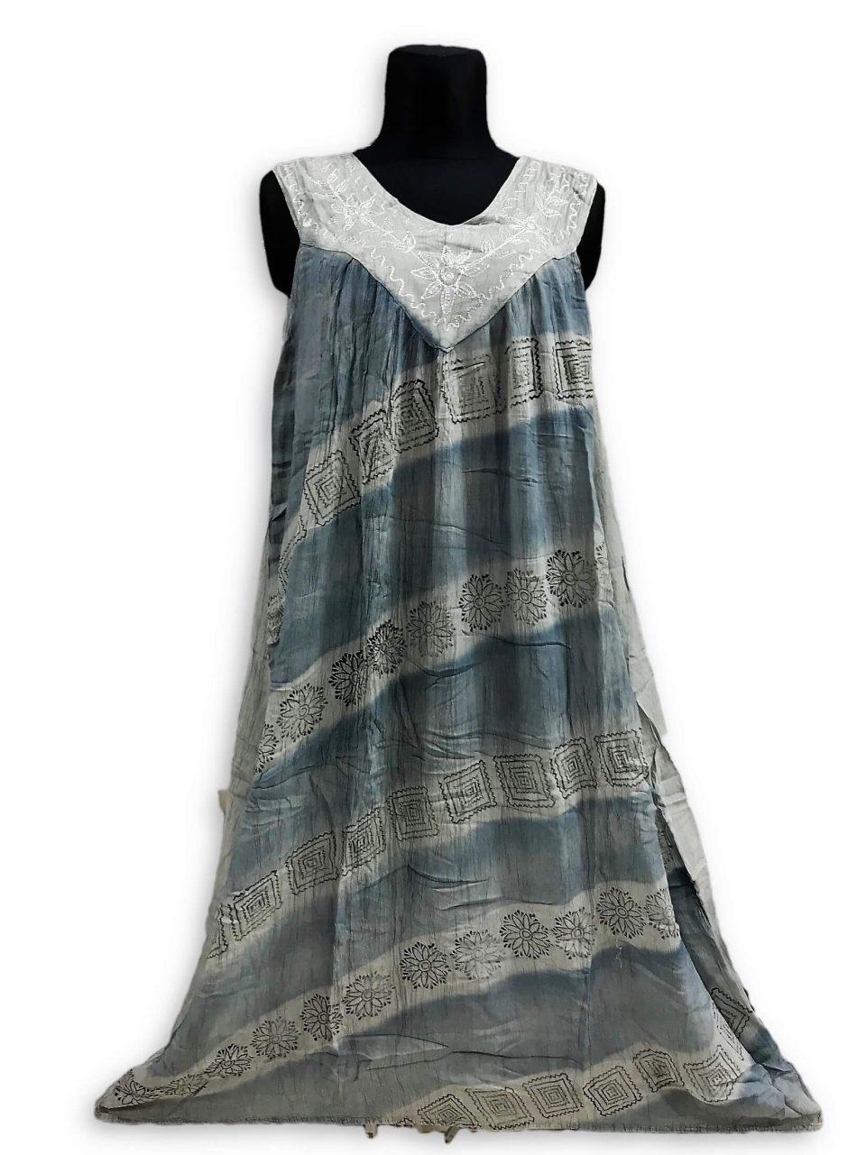 Csinos, lenge hosszú nyári ruha 2502 szűrké