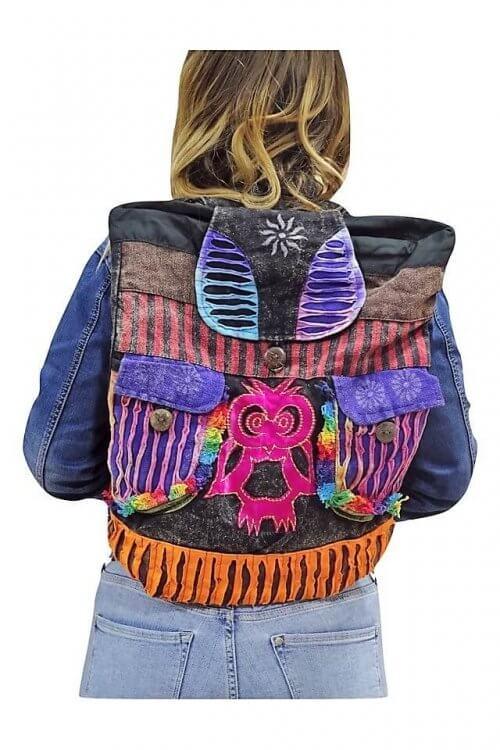 Egyedi színes hátizsák Nepálból