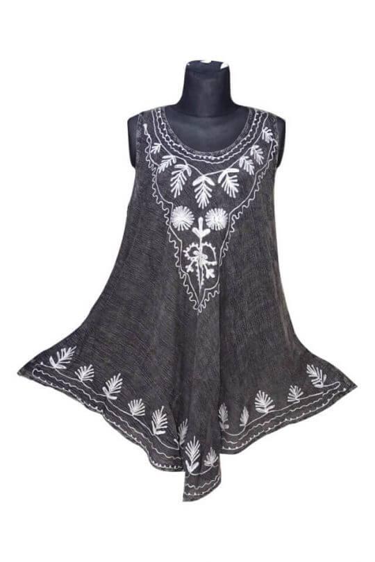 Csinos, rövid nyári ruha Indiából 17138 szürke
