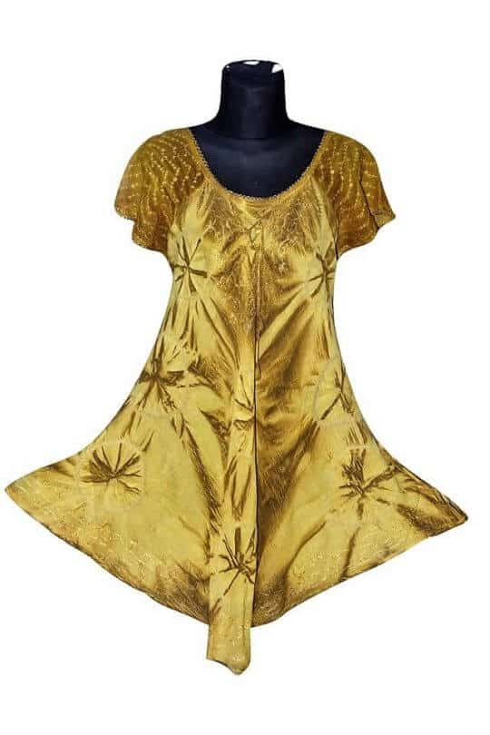 Indiai rövid ujjú rövid ruhák.aranyszín