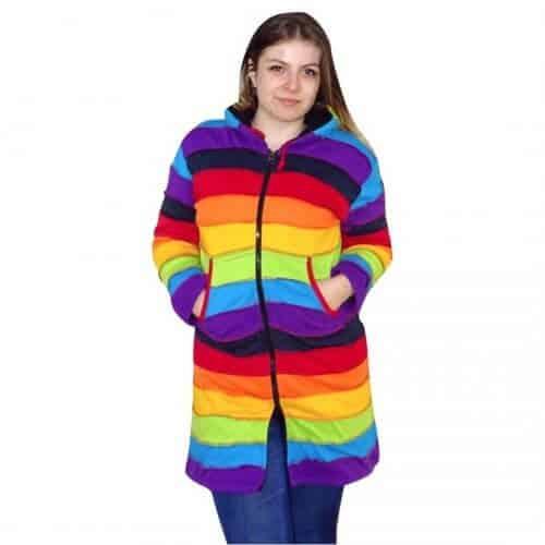 Szivárvány színes Nepáli hosszú kabát