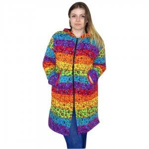 Buborék színes Nepáli hosszú kabát