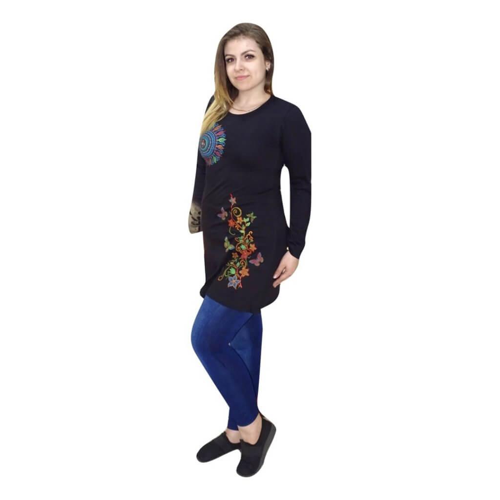 Fekete tunika mandala mintával