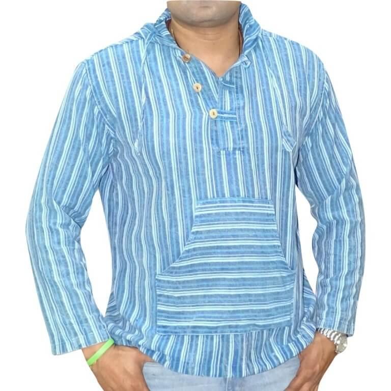 Férfi ing kék csíkos színben