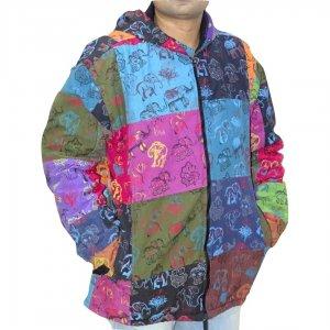 Férfi kabát elefántos mintával