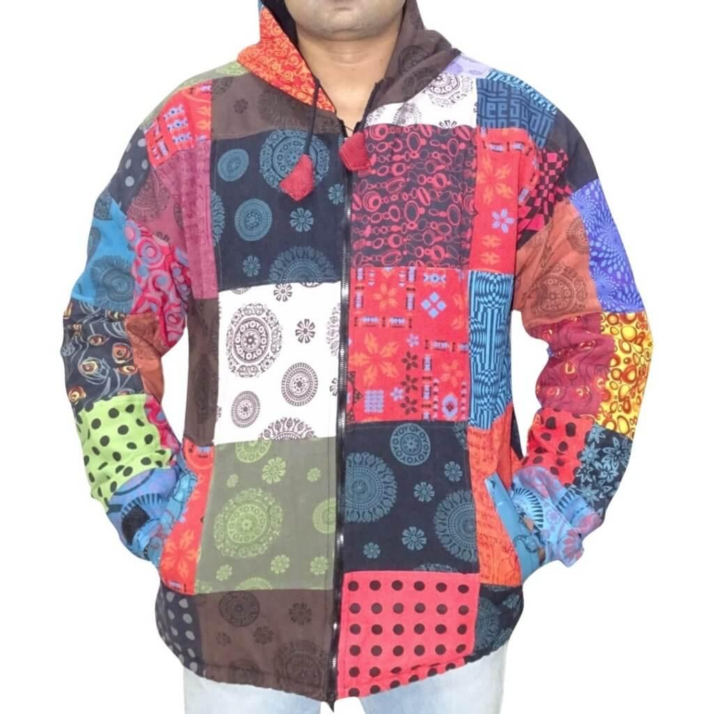 Unisex férfi kabát több színes kockás mintával