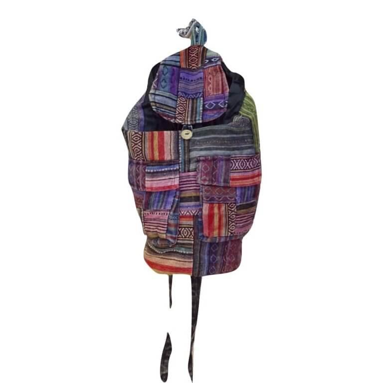Színes hátizsák Nepálból