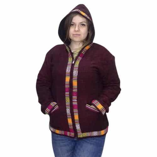 Egyedi Indiai gyapjú kabát- uniszex