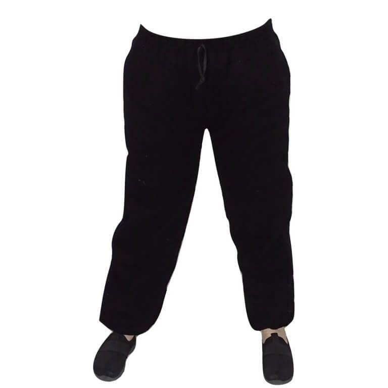 Indiai gyapjú nadrág fekete színben