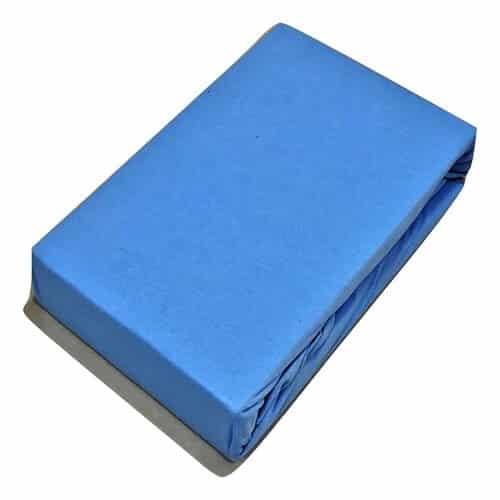 Jersey gumis lepedő világós kék