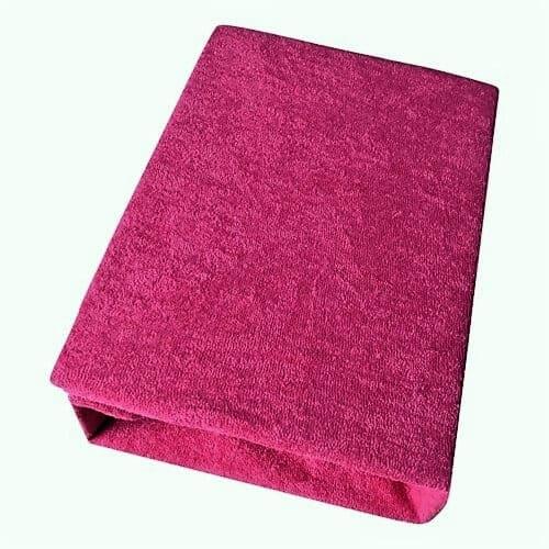 Frottír gumis lepedők Csehországból, pink