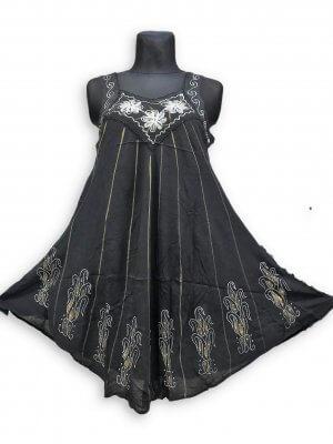 Csinos, rövid nyári ruha Indiából 2102 fekete