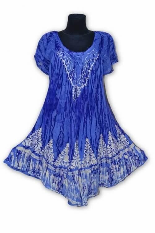 Csinos rövid ruha Indiából 07 kék
