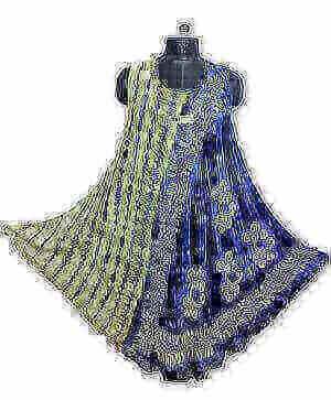 Csinos, rövid nyári ruha Indiából 2111 indigo kék