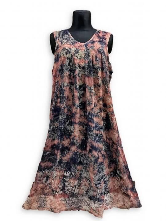 Csinos, lenge hosszú nyári ruha 2510 lila