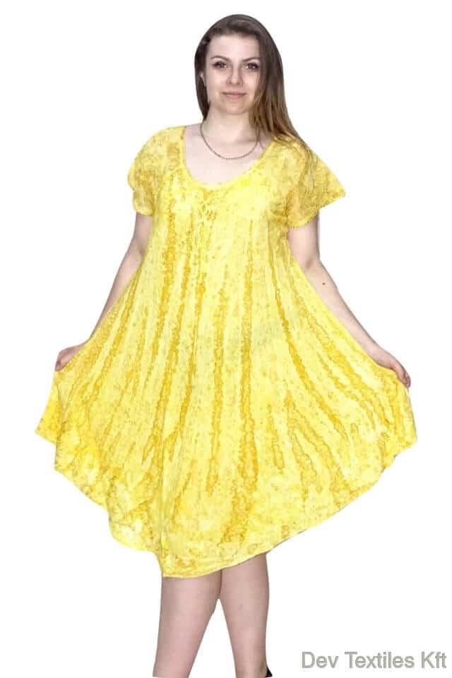 csinos rövid ruha indiából 01 univerzális méret sárga