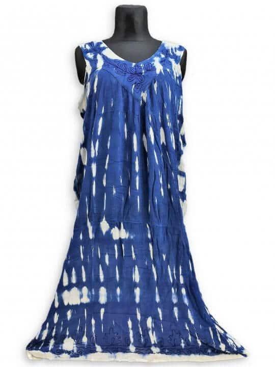 Csinos, lenge hosszú nyári ruha 2511 kék