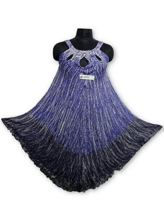 Csinos, rövid nyári ruha Indiábóli 2110 kék-szürke