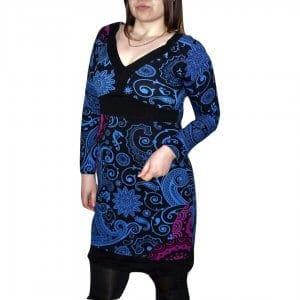 elegáns rövid ruhák Tunika világoskék Színben mandala mintás