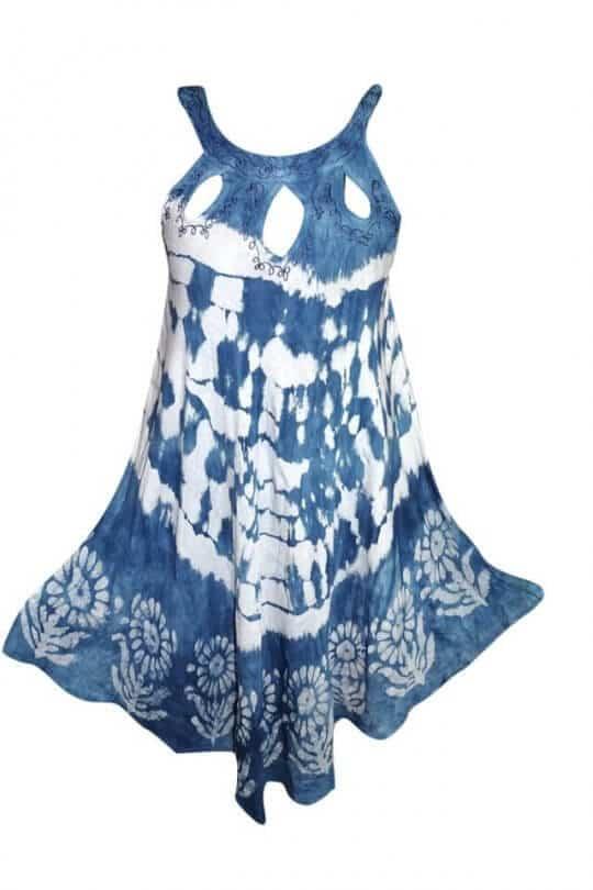 Csinos, rövid nyári ruha Indiából több színben 2112