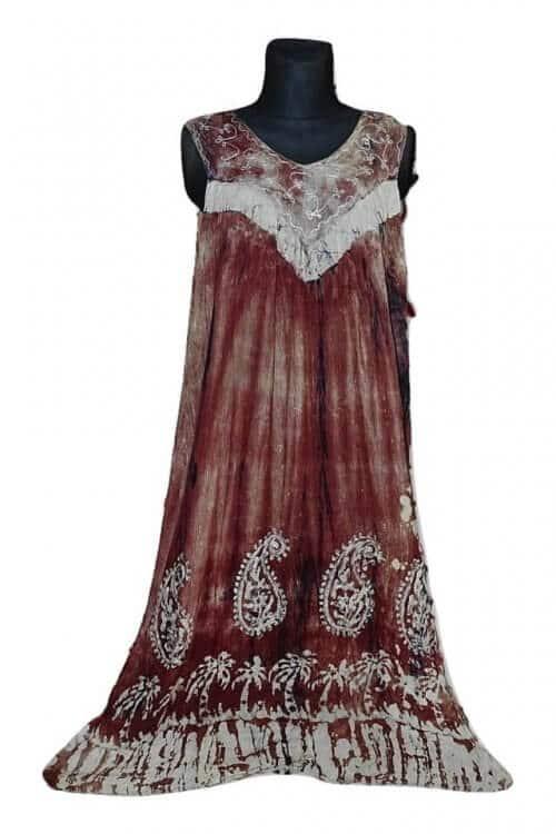 Csinos, lenge hosszú, nagy méretű nyári ruha 2205 bórdo