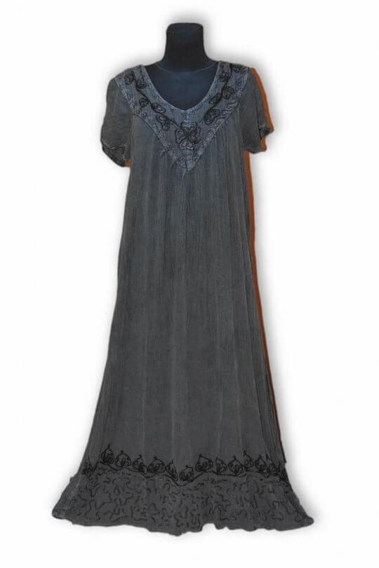 Extra nagy méretű hosszú nyári ruha Indiából 2600 szürke