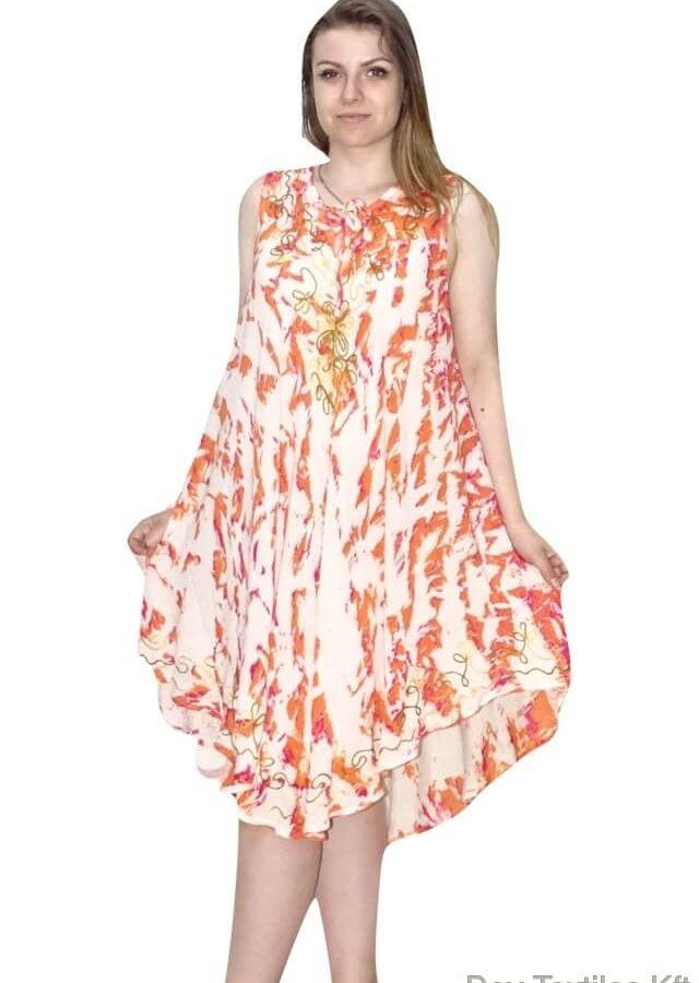 Csinos, rövid nyári ruha Indiából 13 narancs