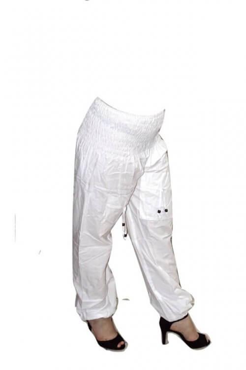Fehér nadrág Indiából univerzális méretben