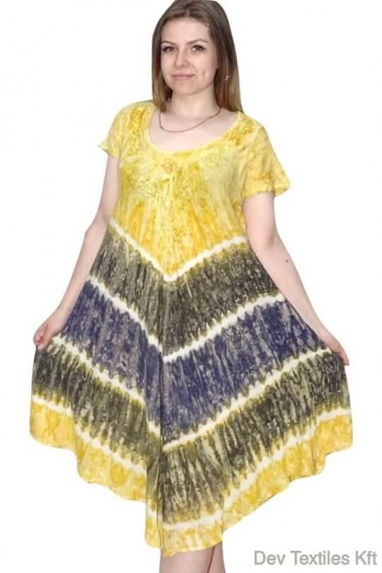 rövid ruha színes csíkos indiai ruha nagyméretű