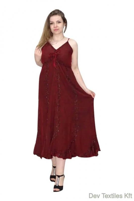 Pántos ruha Indiából hátul gumis résszel.