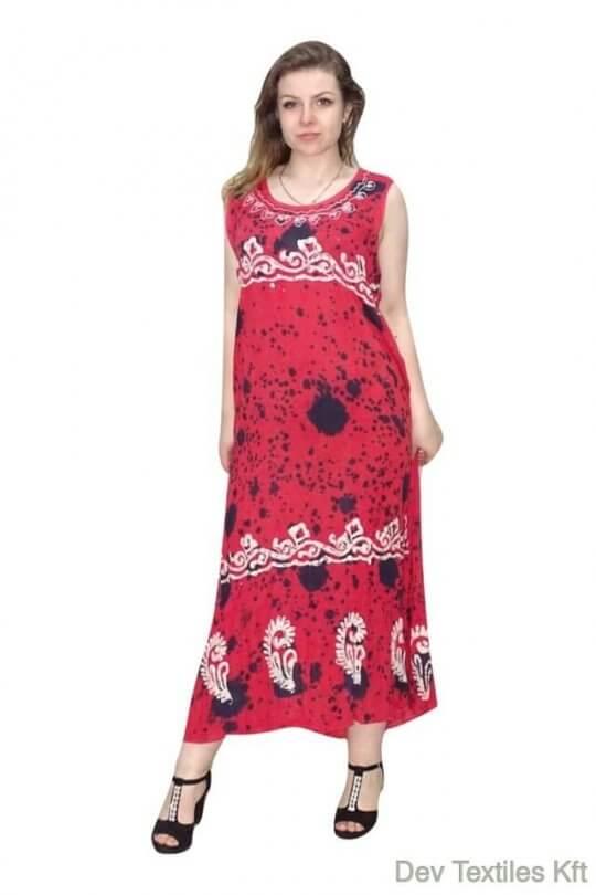nyári maxi ruha indiából vékony pántokkal | devi fashions