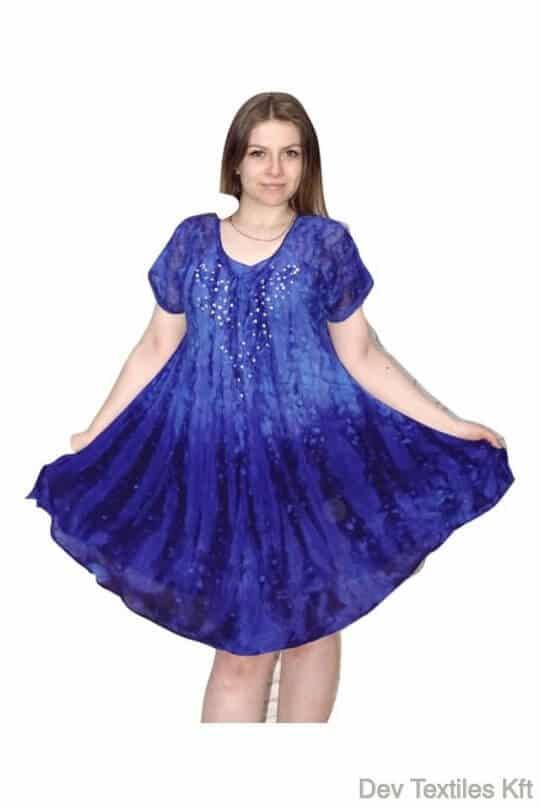 Rövid ruha-Elegáns flitteres ruha kék