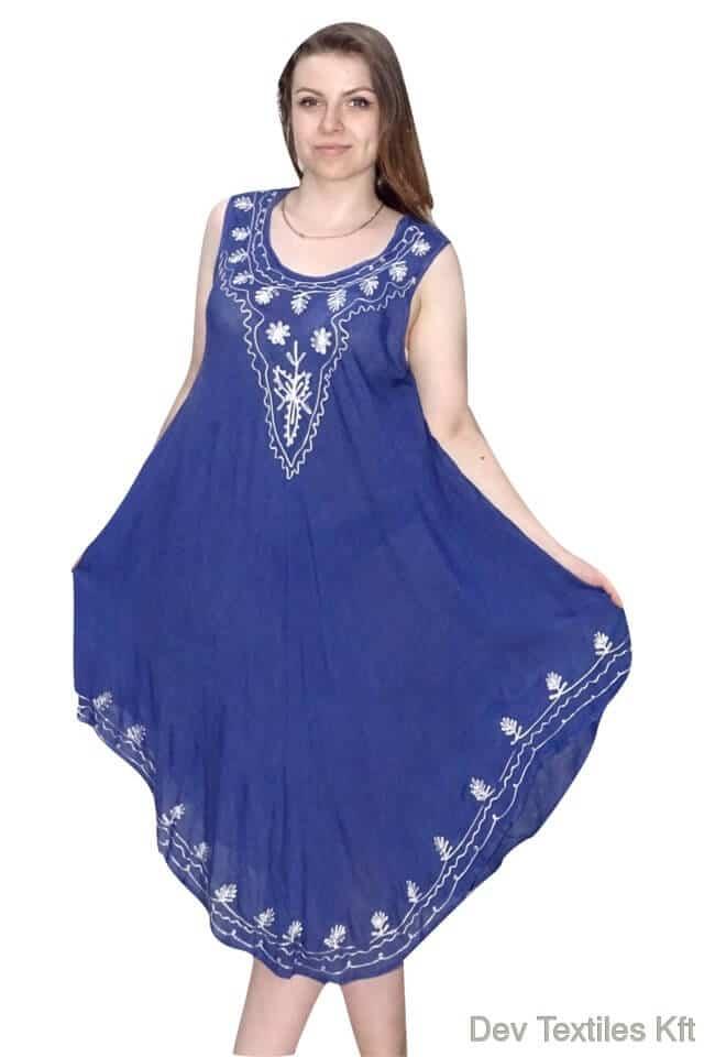 Rövid ruha indiából kék színben