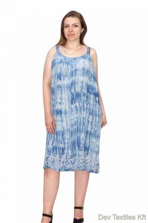 Elegáns pántos ruha egyenes szabású kék