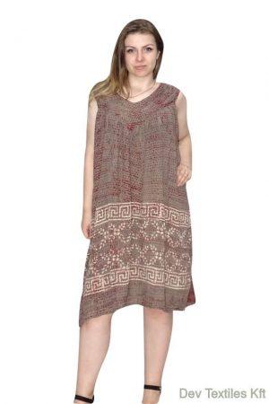 Indiai rövid ruha egyenes fazon szürké