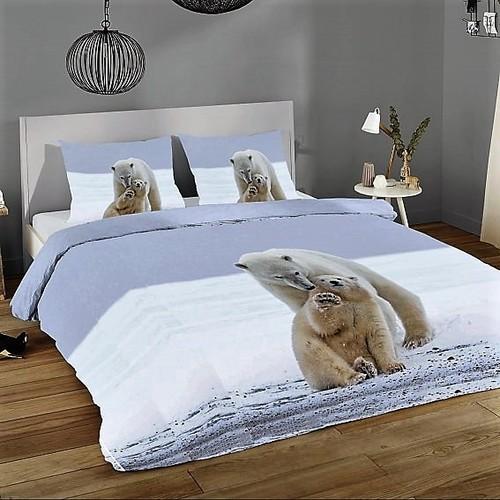 Pamut ágynemű jegesmedve mintával 3D