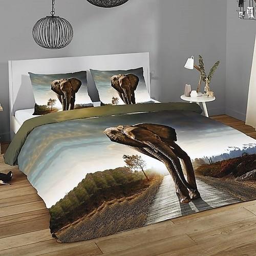Prémium pamut ágynemű Elefánt mintával 3D