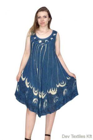 Rövid nyári ruha indiából virag mintával vilagós kék