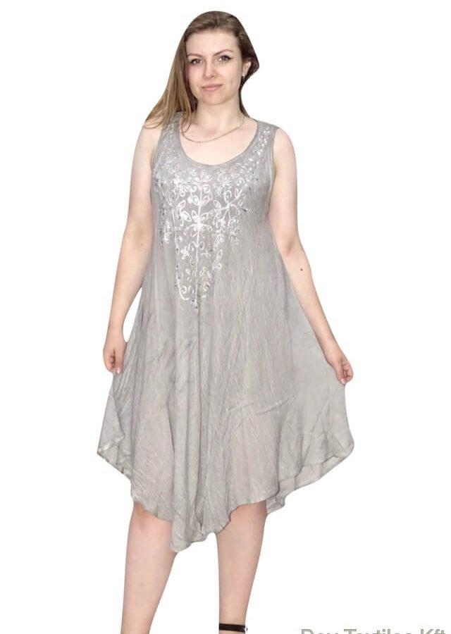 indiai rövid ruha flitterekkel szzürké
