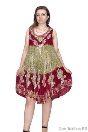 indiai rövid ruha keleti stílusban bordó