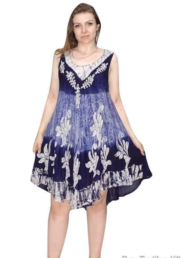 indiai rövid ruha keleti stílusban kék