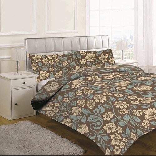 prémium pamut ágynemű barna színben pakisztánból
