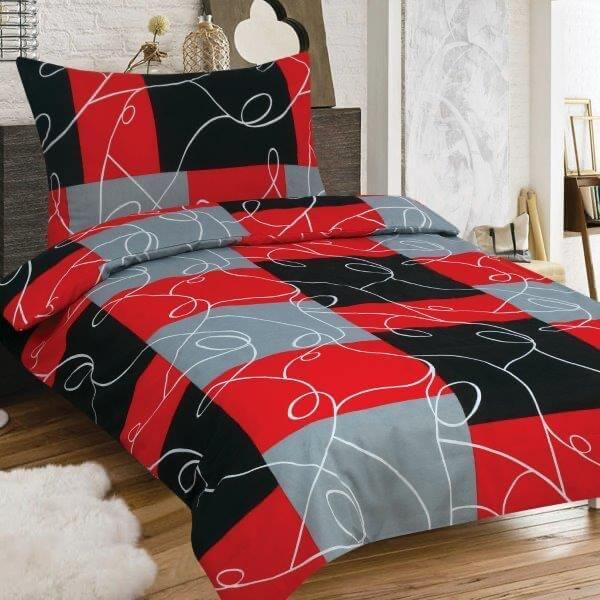 pamut 2 részes ágyneműhuzat piros kockás