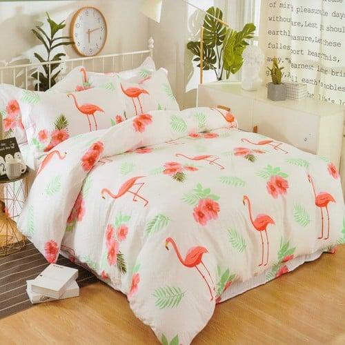 flamingó mintás 7 Rész Krepp Ágyneműhuzát