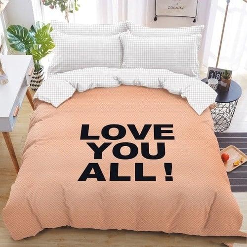 love feliratos pamut ágyneműhuzat barack szín