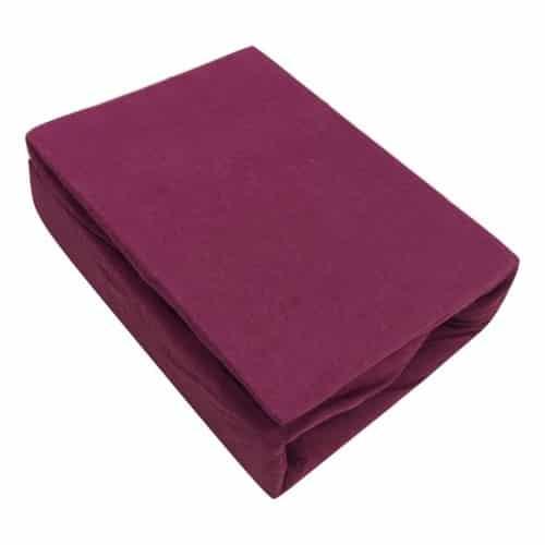 prémium jersey gumis lepedő bordó színben